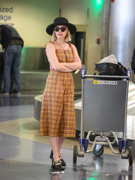 Emma Roberts Departing at LAX Airport