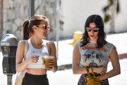 Emma Roberts out and about with a friend