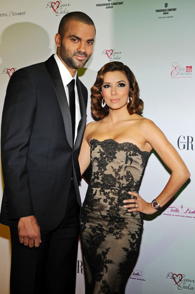 Eva Longoria Parker graces the red carpet, with her husband, Tony Parker, for the Par Coeur Gala at the Pavillon Cambon. The gala is a charity event that raises money for Make-A-Wish France and Eva's Heroes.
