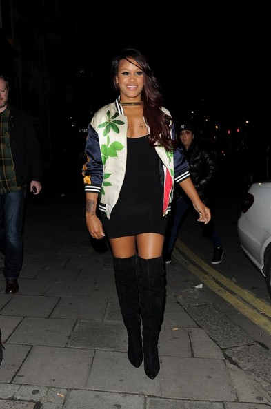 Eve hosts a party at Jalouse following her performance with Lil' Kim at the indigO2.