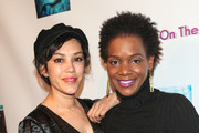Kelsey Scott and Mishel Prada are seen attending the FYC Us Independents Screenings and Red Carpet at the Elks Lodge in Los Angeles, California.
