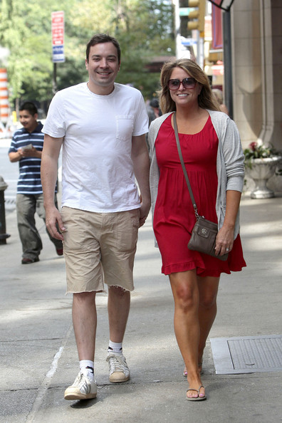 jimmy fallon wife. Jimmy Fallon and His Wife in