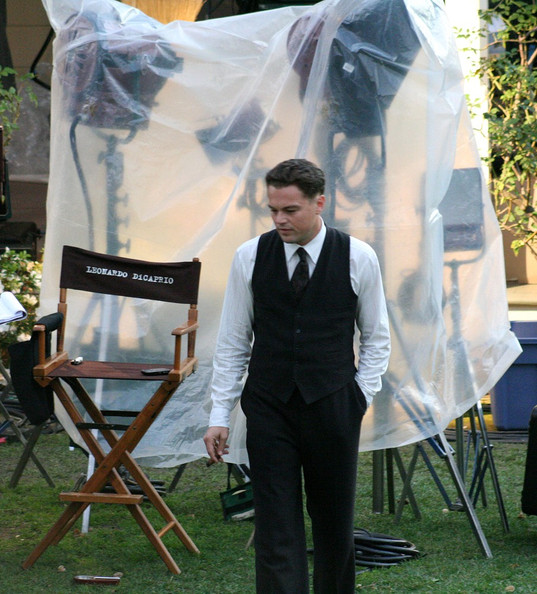 "Leonardo Dicaprio films scenes for his latest movie ""J. EDGAR"" based on the FBI chief, J. Edgar Hoover.Directed by Clint Eastwood and starring Dame Judi Dench."