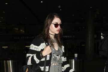 Frances Bean Cobain Frances Cobain and Courtney Love Are Seen at LAX