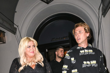 Gemma Collins Jonathan Cheban outside Craigs Restaurant