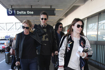 Gene Simmons Gene Simmons and Family Are Seen at LAX