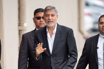 George Clooney George Clooney At 'Jimmy Kimmel Live'