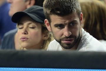 Gerard Pique Pregnant Shakira and Gerard Pique at a Basketball Game