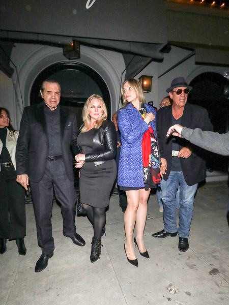 Chazz Palminteri Outside Craig's Restaurant In West Hollywood