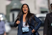 Gina Rodriguez is seen at 'Jimmy Kimmel Live' in Los Angeles, California on April 18, 2019.