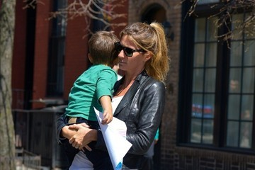 Gisele Bundchen Tom Brady and Gisele Bundchen Get Brunch