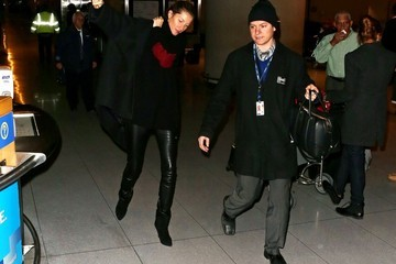 Gisele Bundchen Gisele Bundchen Lands in Boston