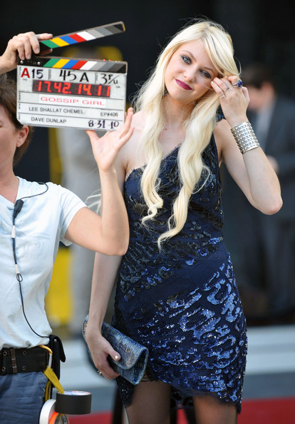 Taylor Momsen 'Gossip Girl' films in the Meatpacking District.