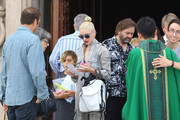 Gwen Stefani and Family Go to Church