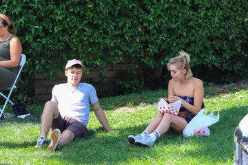 Hannah Glasby Nolan Gould and Hannah Glasby Shop at the Farmers Market in Studio City