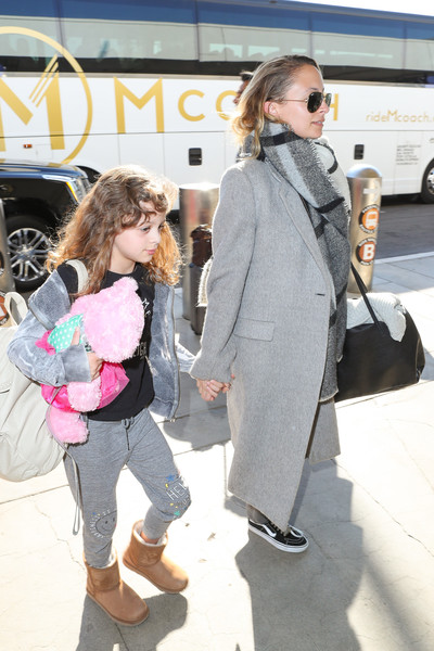 Nicole Richie and Daughter Harlow Are Seen at LAX