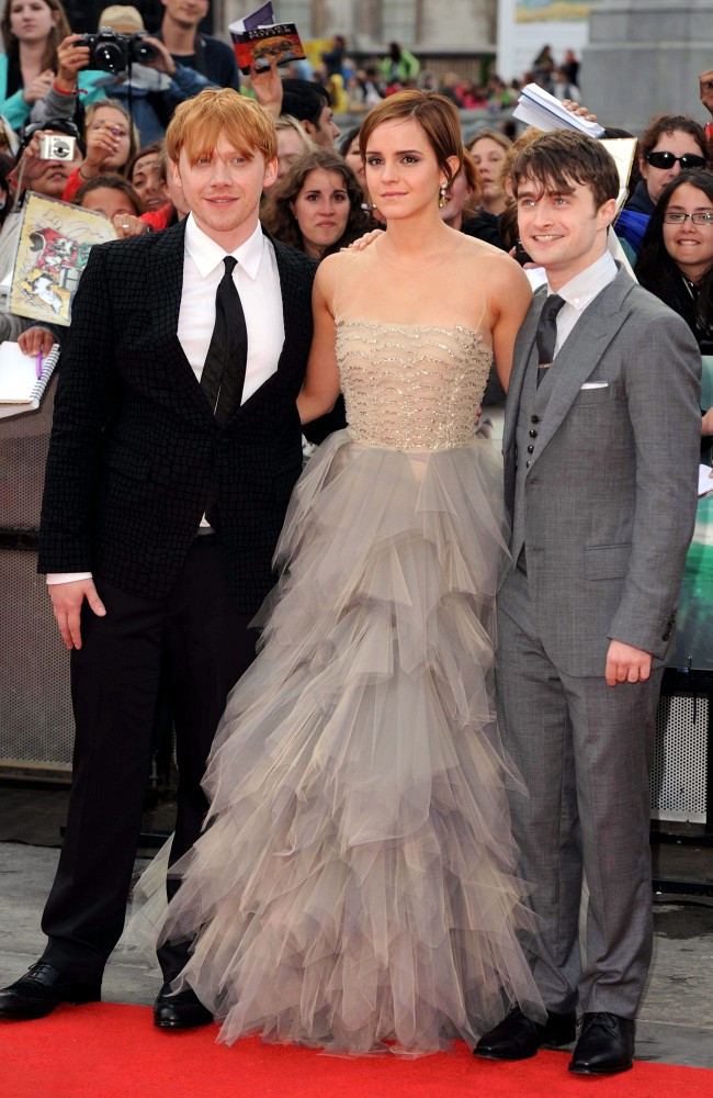 Emma Watson Harry Potter And The Deathly Hallows Part 2 Premiere Dress Rupert Grint in...