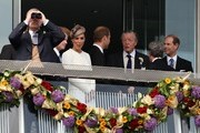 Prince Harry shows visible excitement as he watches the 2011 Epsom Derby at Epsom Downs Racecourse.