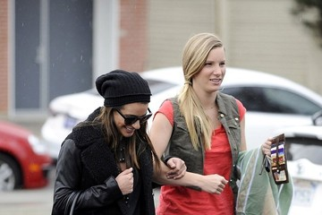 Heather Morris Lea Michele and Heather Morris Step Out in L.A.