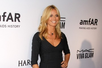 Heidi Klum Celebrities Chat at the AmFar Inspiration Gala