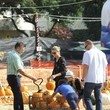 Heidi Klum and family go to Mr Bones pumpkin patch.