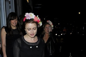 Helena Bonham Carter Helena Bonham Carter Rocks a Flower Crown