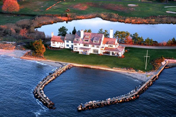 Images of screen legend Katharine Hepburn's family waterfront mansion. It has recently been placed on the market for $28 million.
