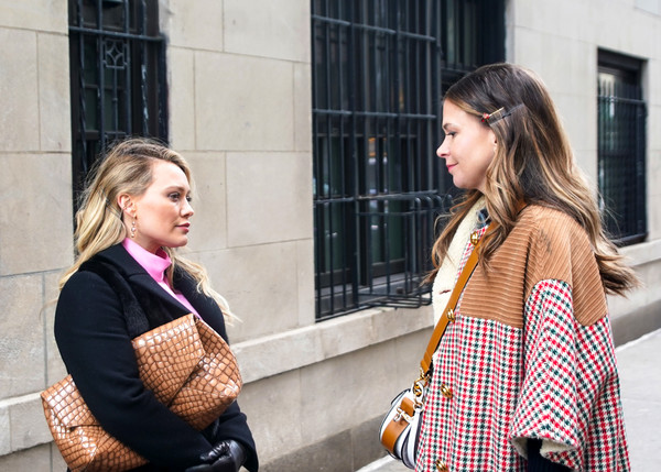 Hilary Duff And Sutton Foster Are Seen On The Set Of 'Younger'