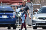 Hilary Duff out and about.