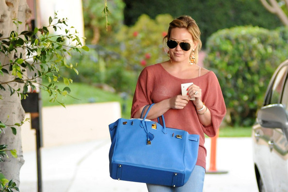 Hilary Duff stops by a salon in West Hollywood.