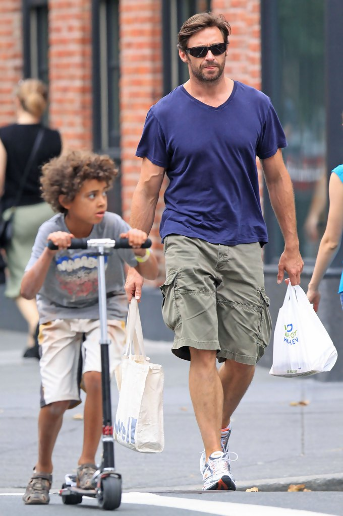 Photo of Hugh Jackman & his  Son  Oscar Maximilian Jackman