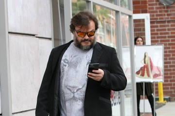 Jack Black Jack Black Checks His Phone