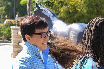 Jackie Chan Jackie Chan at 'EXTRA'