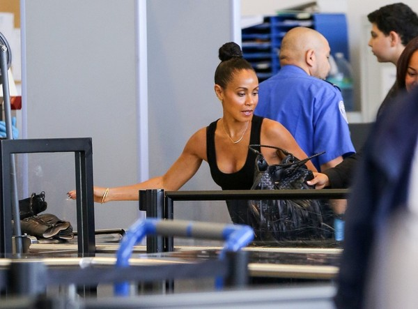 Jada Pinkett Smith is seen at LAX.