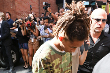 Jaden Smith Guests Arrive at the Kanye West Fashion Show in New York
