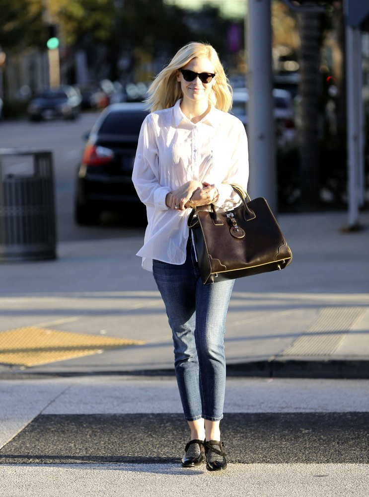 Jaime King Takes a Walk in Beverly Hills