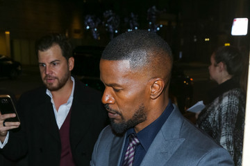 Jamie Foxx Celebrities Outside the 'Sleepless' Premiere