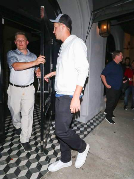 Jared Goff Outside Craig's Restaurant In West Hollywood