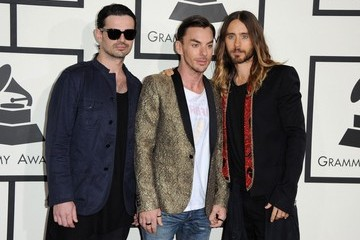 Jared Leto Tomo Milicevic Arrivals at the Grammy Awards