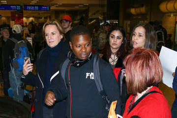 Jason Mitchell Celebrities at the Salt Lake City Airport