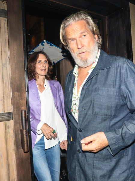 Jeff Bridges Outside District by Hannah An in West Hollywood