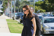 Jennifer Garner at church.