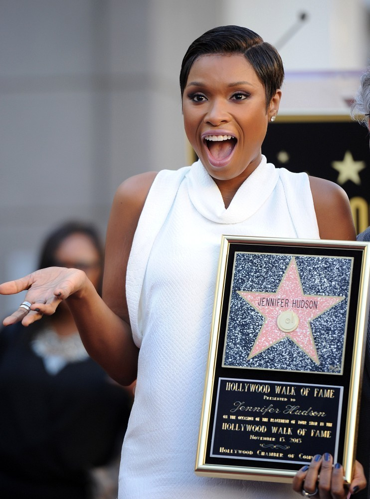 Jennifer Hudson honored on the Hollywood Walk of Fame on November 13, 2013.