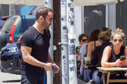 Jeremy Piven Out And About With His Dog Stella
