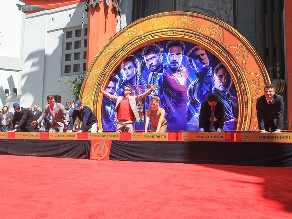 Marvel Studios' 'Avengers: Endgame' Cast Place Their Hand Prints In Cement At TCL Chinese Theatre IMAX Forecourt []