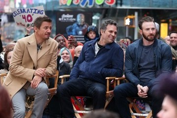 Jeremy Renner The 'Avengers' Cast at 'Good Morning America'