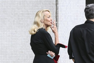 Jerry Hall Jerry Hall Arrives at the ITV Studios