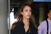 Jessica Alba Arrives at LAX
