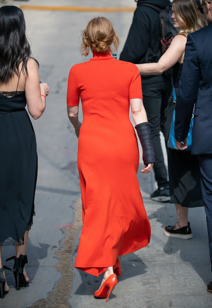 Jessica Chastain At 'Jimmy Kimmel Live' []