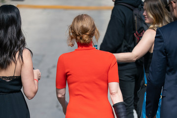 Jessica Chastain Jessica Chastain At 'Jimmy Kimmel Live'